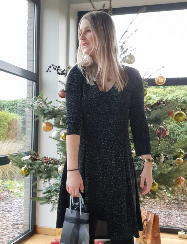 Grey glitter luna dress
